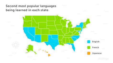 usa second language map the united states of languages an analysis of duolingo