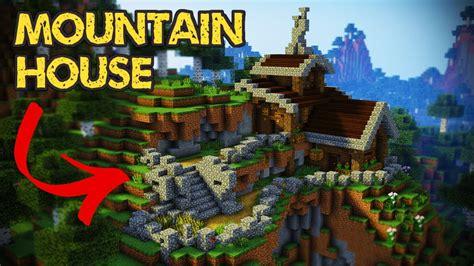 minecraft mountain house minecraft mountain house tutorial minecraft house youtube