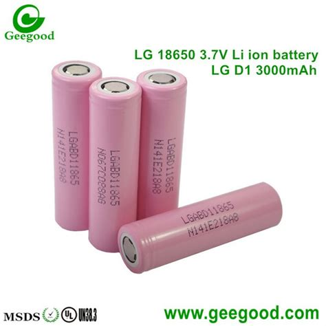 Lg 18650 Li Ion Battery 3200mah 3 7v With Flat Top lg d1 d2 3000mah high capacity 18650 3 7v li ion batteries shenzhen geegood technology co ltd