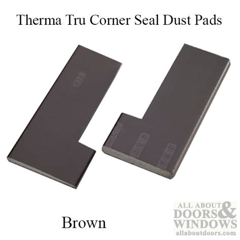 Dust Pad Corner Seal Brown Exterior Door Corner Seal Pads