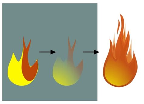 tutorial vector flame drawing vector flames