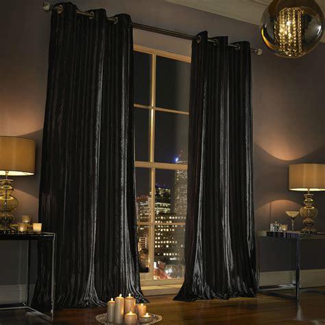 velvet eyelet curtains kylie minogue iliana black curtains designer eyelet velvet