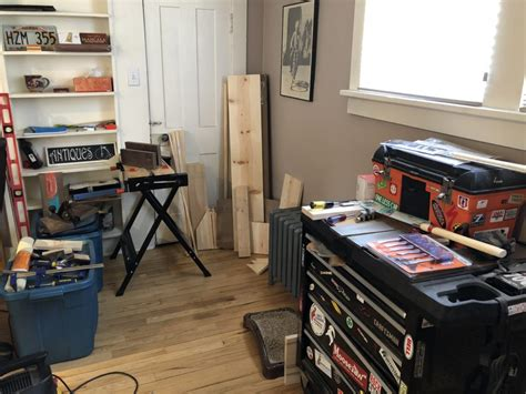 started woodworking   apartment spare room