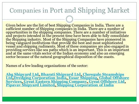 Mba Shipping And Port Management by Distance Mba Port Shipping Management
