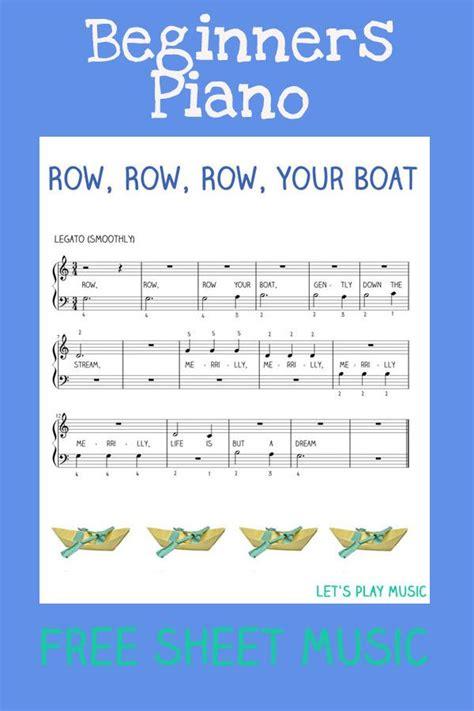 row your boat violin easy piano row row row your boat free sheet music easy
