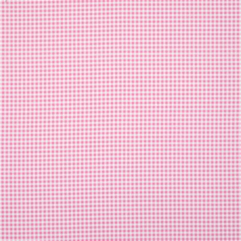 Gingham Curtain Fabric Pink Terrys Fabrics Uk