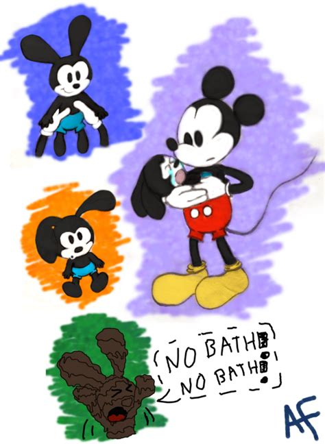 Stelan Baby Mickey baby oswald doodles by aqua melody101 on deviantart