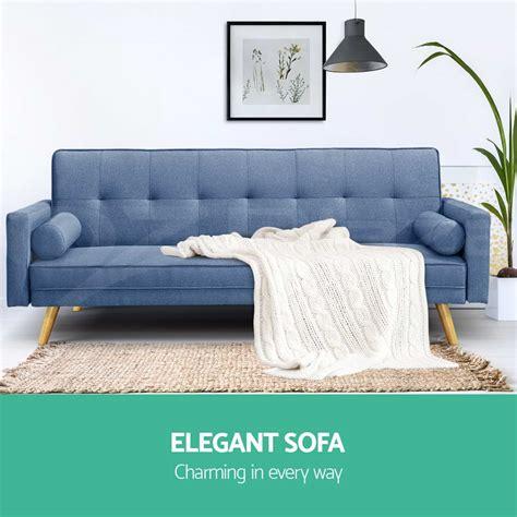 sofa bed suite 3 seater fabric sofa bed linen modular lounge suite futon