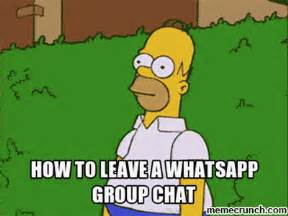 Meme Chat - how to leave a group chat