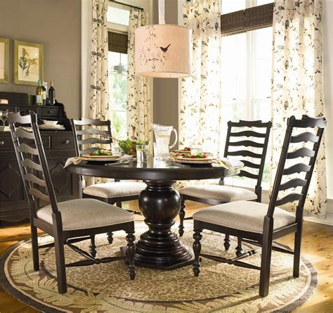 Paula Deen Kitchen Table Dining Table W 4 Ladder Back Side Chairs By Paula Deen By Universal Wolf And Gardiner