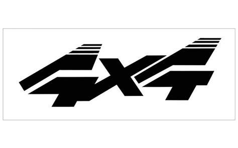 Ford 4x4 Decals by Graphic Express Ford Truck 4x4 Decal 4 Quot X 12 Quot
