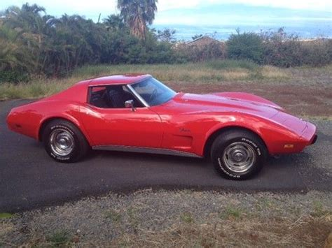 Sell Used 1975 Chevrolet Corvette Stingray Coupe T Tops Restored In Elkhart Indiana United Find Used 1975 Corvette Stingray T Tops In Lahaina Hawaii United States