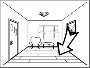 Floor Coloring Pages clip basic words floor b w unlabeled i abcteach