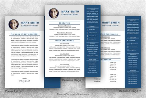 Resume Executive Template Word Executive Resume Template Word Resume Template Start