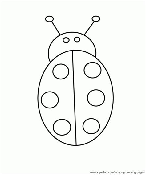easy bug coloring pages simple ladybug coloring page for kids i made children
