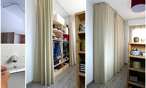 Amenagement Dressing 875 by Installer Un Dressing Derri 232 Re Un Rideau Dans Une