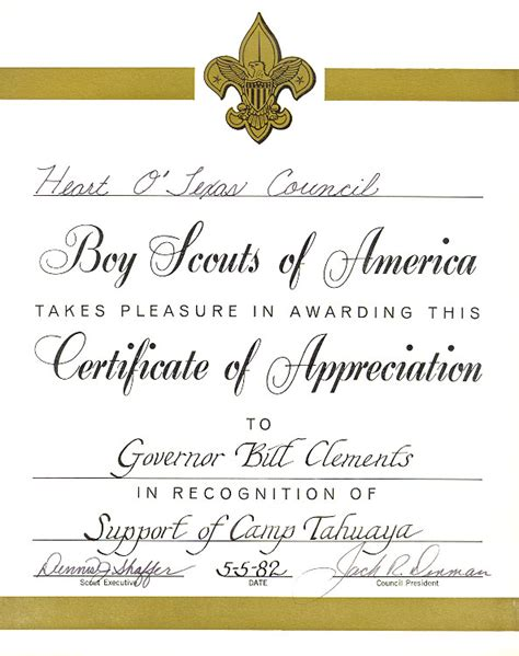 boy scout certificate templates certificate of appreciation boy scout template just b cause