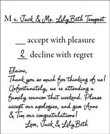 Letter Declining Wedding Invitation Sticky Situations How To Properly Decline A Wedding Invitation And Other Issues Wwjd Is Now