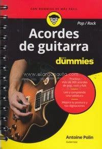 libro acordes de guitarra pop rock 183 el argonauta la librer 237 a de la m 250 sica