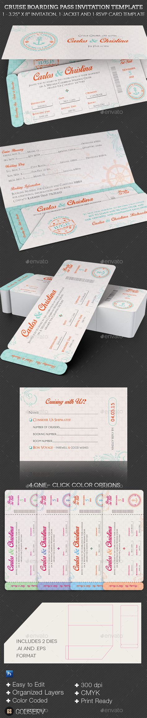 boarding pass place card template wedding cruise boarding pass invitation template by