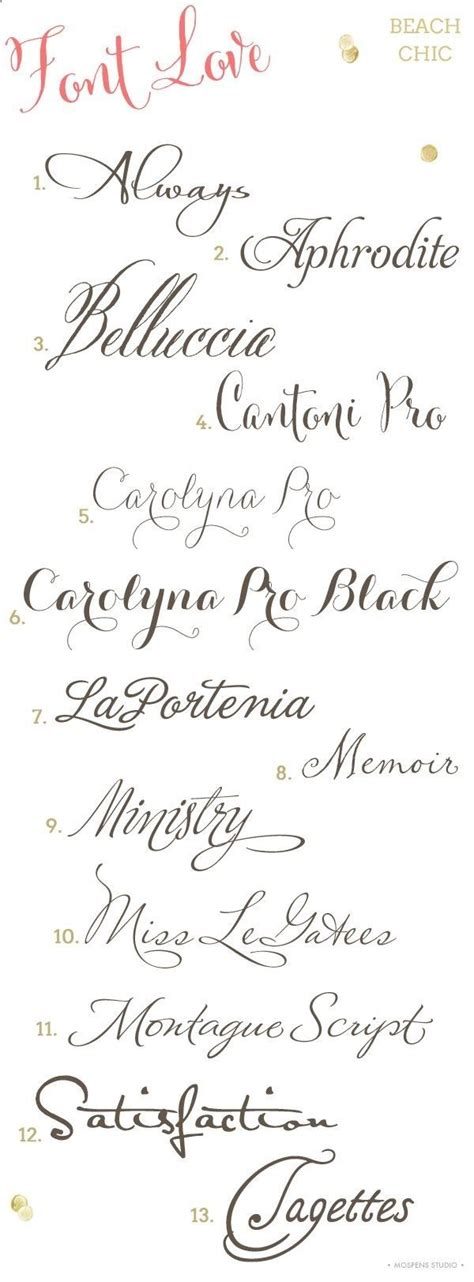 Wedding Fonts by Chic Wedding Invitation Fonts Pretty Free