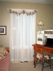 Shabby Chic Window Treatment Ideas - how to make a rag swag window treatment rustic crafts amp chic decor
