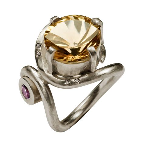silver citrine ring by farah qureshi notonthehighstreet