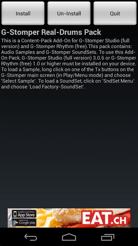 real drum apk tutorial g stomper real drums pack 1 10 apk download android