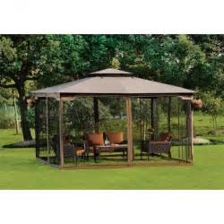 Patio Netting 10 X 12 Gazebo Canopy With Mosquito Netting