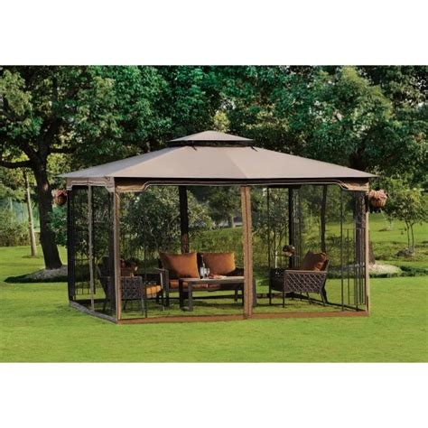 10x10 Deck Gazebo 10 X 12 Gazebo Canopy With Mosquito Netting
