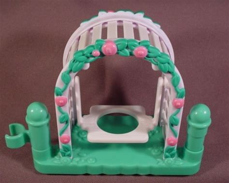 fisher price green swing fisher price little people 2001 white arbor with swing on