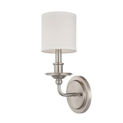 polished nickel bathroom sconces filament design aeneas polished nickel wall sconce cli sh0243714 the home depot