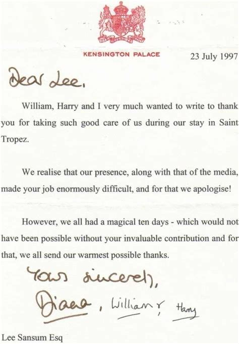 princess letter template 97 best images about princess diana letters on