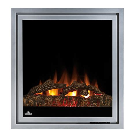 napoleon 30 in in electric fireplace insert w logs