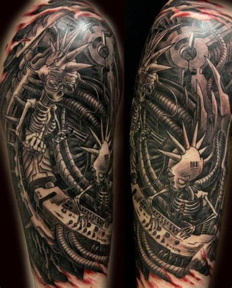 biomechanical tiger tattoo 45 awesome biomechanical tattoos inkdoneright