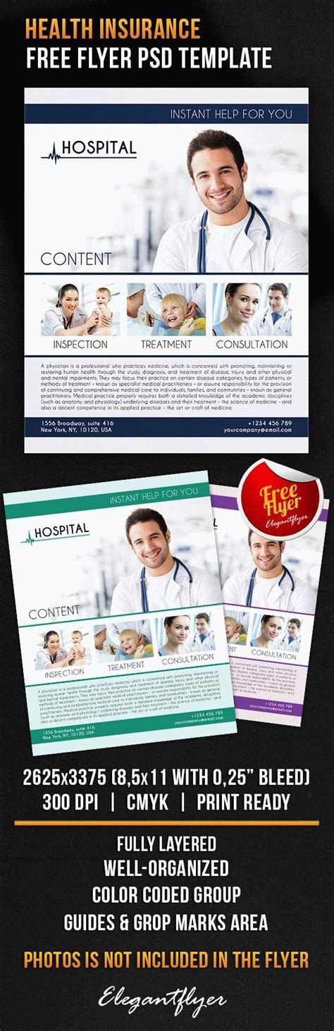 Health Insurance Free Flyer Psd Template By Elegantflyer Insurance Flyer Templates