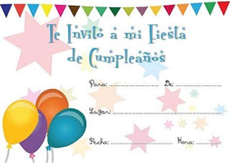 imagenes de invitaciones de cumpleaños bonitas invitaciones de cumplea 241 os infantiles tarjetas de cumplea 241 os