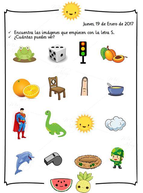 imagenes que empiecen con la letra s en ingles tareas de pre kinder