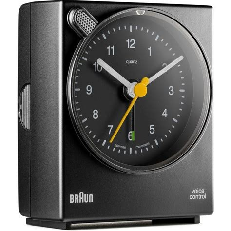 braun bnc004 black square voice activated alarm clock