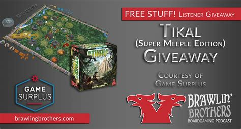 Reddit Game Giveaway - win giveaway enter to win tikal super meeple edition from game surplus