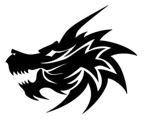 tribal dragon head tattoo by v on deviantart tribal