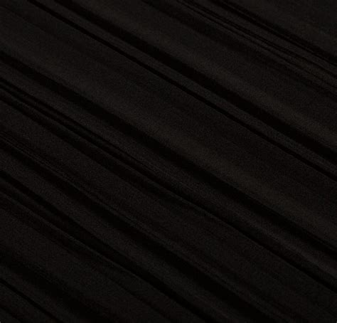 pleated silk fabric 100 silk pleated black fabric