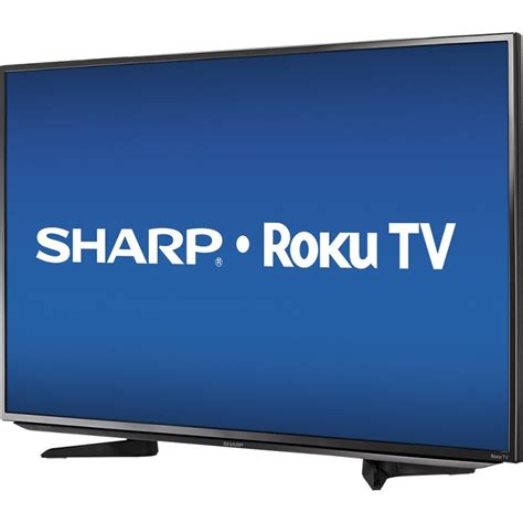 Tv Sharp Led 43 sharp 43 quot class 42 6 quot diag led 1080p smart hdtv roku tv black skywavz