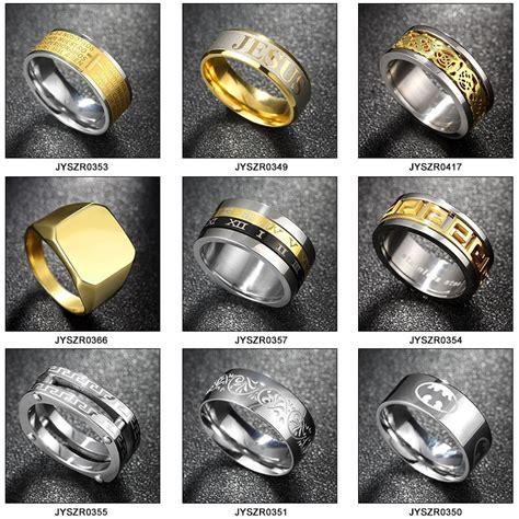 Cincin Silver Simple Titanium 316l titanium 316l stainless steel gold finger ring designs for buy gold ring designs