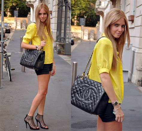 Ciara Top Hsalmon chiara ferragni cage ankle boots yellow shirt and