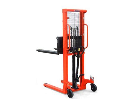 Stacker Manual Kap 1 5ton Lifting 2 5mtr New 1 ton x 2 5 metre manual stacker 1000kg high lift fork pallet truck
