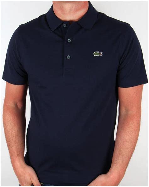 lacoste polo shirt navy sleeve skool retro