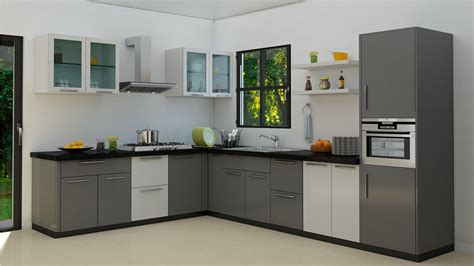 L Type Small Kitchen Design L Shaped Modular Kitchens Design Tips The L Shaped Kitchen Homelane With Spacious Work