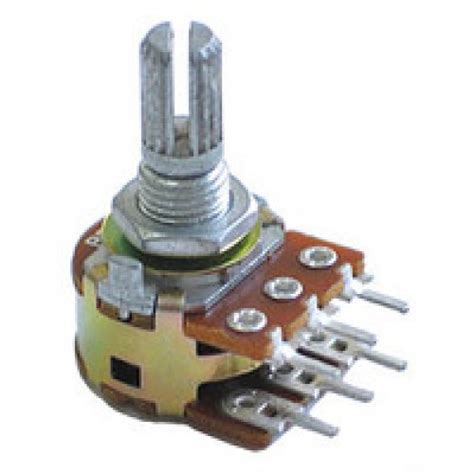 variable resistor rotary type 500k ohm logarithmic dual taper potentiometer