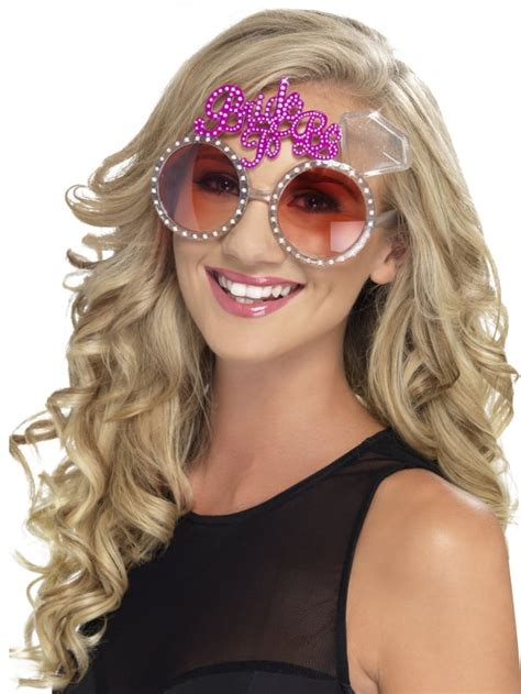 braut mit brille funky bride to be glasses hen party superstore